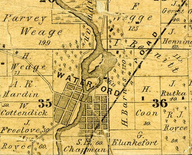1858 Map showing Plank Rd