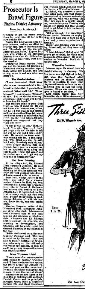 Eddie's Inn Gambling Article re fight2- 3-1945
